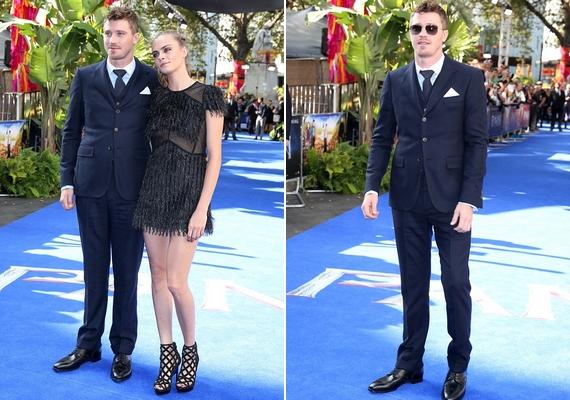 A premieren ott volt a film másik főszereplője, a 31 éves Garrett Hedlund is, aki kék öltönyben érkezett.
