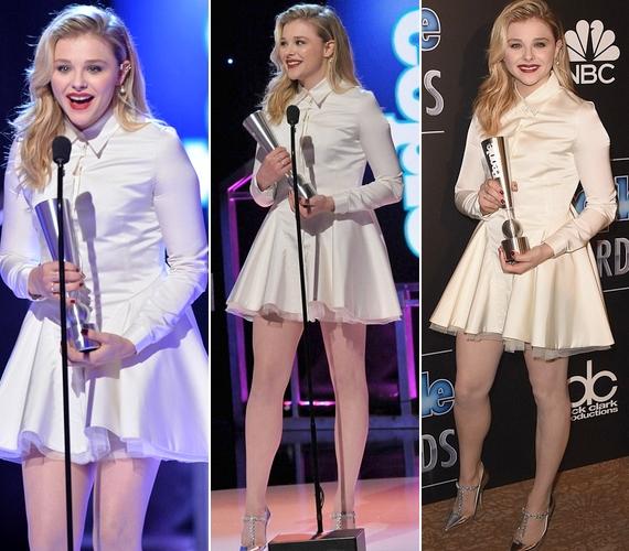 A People Awardra már magassarkúban ment, és még viccelődött is: a színpadon arról beszélt, hogy általában kéz- és lábtörést szokás kívánni, de neki ez térdficam formájában vált valóra.