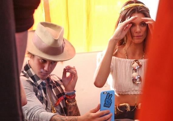 Kendall oldalán feltűnt legjobb barátja, Justin Bieber is.