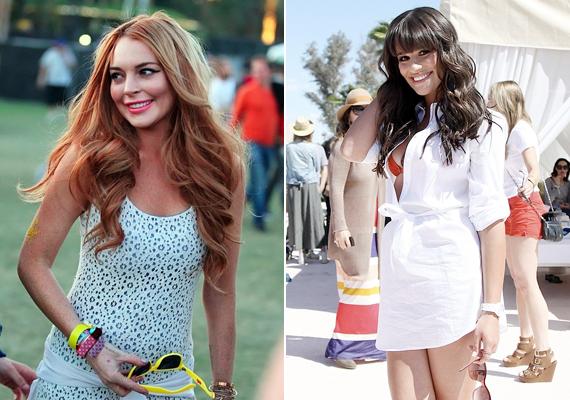 Lauren Conrad és Lea Michele a színes kiegészítőkre helyezték a hangsúlyt: Lauren napszemüveggel, Lea pedig narancssárga bikinivel javított az összképen.