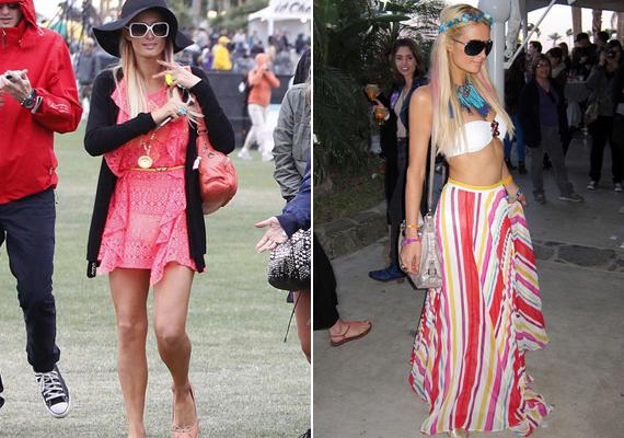 Paris Hilton csipkeruhája nagyon csinos volt, de a fesztivál többi napján merészebb szereléseket is bevállalt.