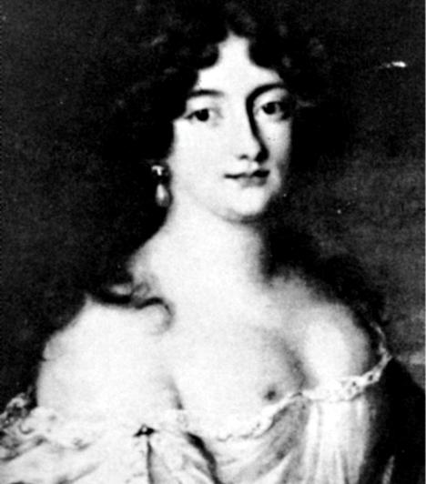 Hortense ManciniHortense Marie testvére volt, és éppolyan híressé vált szépségéről. Ő azonban nem Lajos szeretője lett: II. Károlyt, Anglia, Skócia és Írország királyát hódította meg. Hivatalos szerető lett, járadékot is kapott az udvartól.