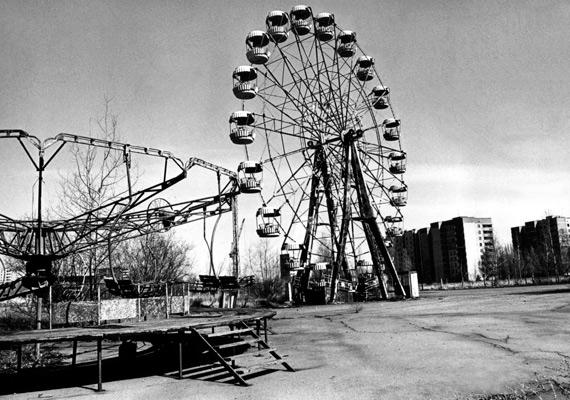 A Csernobil közelében lévő vidámparki körhinta akkor.