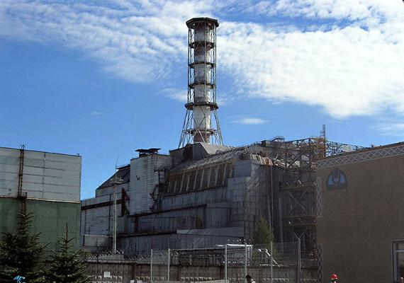 Csernobil, a jelenlegi szarkofág.