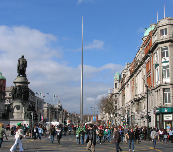 Írország előz minket, ha nem is sokkal. A képen a főváros, Dublin.