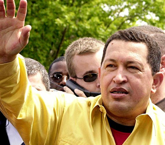 Venezuela a hatodik. A képen Hugo Chavez látható.