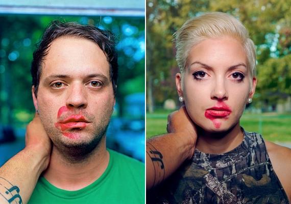 Mások szemében a teljes zavartság ült, miközben arcukon jól látható - piros - jelei voltak a csóknak.