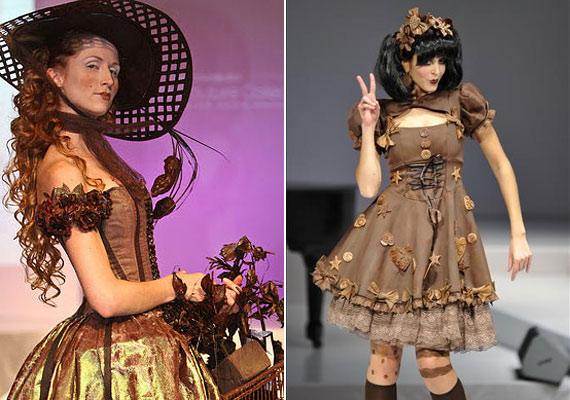 A Cadbury még egy couture divatbemutatót is rendezett csokoládéruhákból.