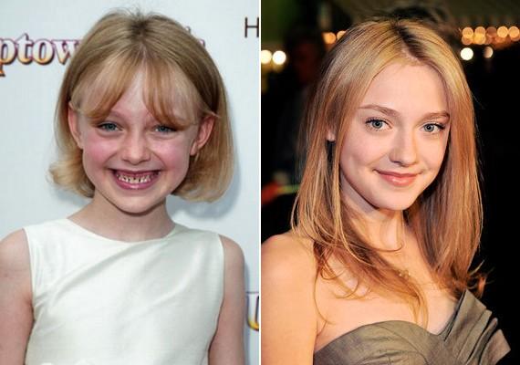 A színésznő apró kislányból lassan felnőtt nővé válik.