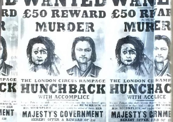 A színész a plakáton sem kevésbé ijesztő.