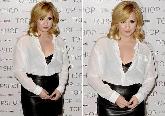 Demi Lovato megszabadult hosszú, barna hajától, és rövidebb, szőke tincsekre váltott.