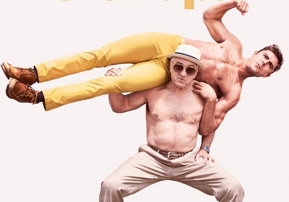 A Nagyfater elszabadul című 2016-os film legújabb plakátján a még mindig jó kondiban lévő, 72 éves Robert de Niro és a 28 éves Zac Efron is félmeztelenül pózol.