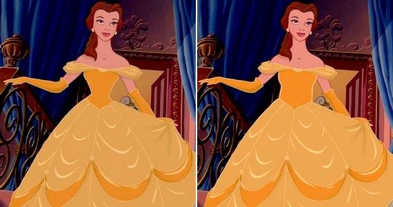 Fűző ide vagy oda, Belle nyakkal egyforma szélességű dereka messze áll a normálistól.