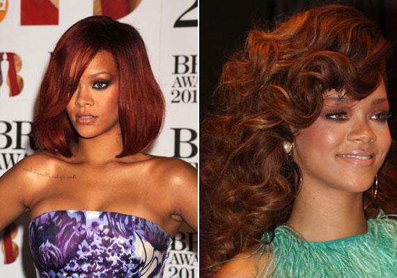 Ha bevállalós vagy, mint Rihanna, próbáld ki a mahagónit, a barna és vörös közötti árnyalatot.