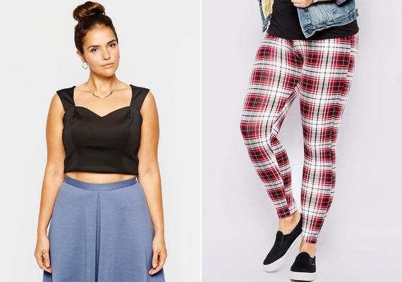 Nem szabad mindenáron követni az összes trendet, mert attól, hogy valami divatos, nem biztos, hogy mindenkinek jól áll. A crop top a lapos hason mutat, a leggings pedig a vékony lábakon, de akkor sem nadrágként hordva.