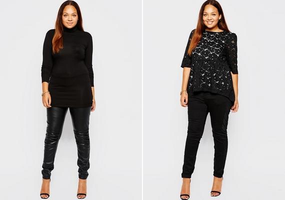 A fekete szín valóban karcsúsít, de ha talpig feketében vagy, az inkább összemossa az alakot, ami ettől tónustalannak tűnik majd. Érdemes a feketét valamilyen világosabb ruhadarabbal kombinálni, az előnyös tulajdonságaidra élénk színekkel hívd fel a figyelmet!