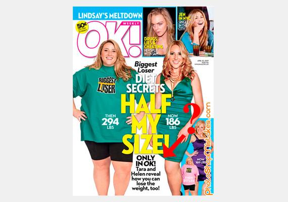 - Fele vagyok a súlyomnak! - hirdeti az OK! magazin címlapján A nagy fogyás szereplője. Vajon ezt annak köszönheti, hogy a fél lábát levágták a fotóról?
