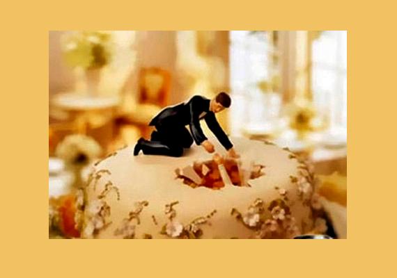 Fogyást segítő étrend-kiegészítőt népszerűsít ez a fotó, a plakát szlogenje: le kell adnod némi súlyt az esküvő előtt?