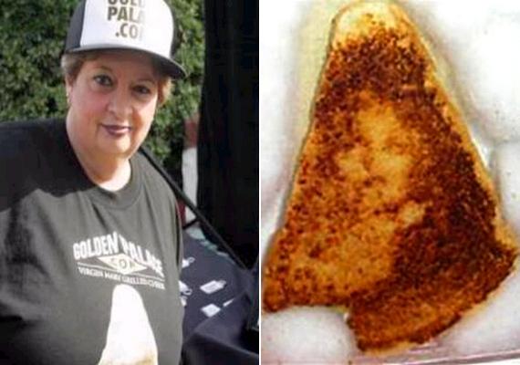 Egy grillezett sajtos szendvics felső szeletén állítólag Szűz Mária képe rajzolódott ki. A kenyeret 28 ezer dollárért, vagyis közel 8 millió forintért vásárolta meg egy nő.