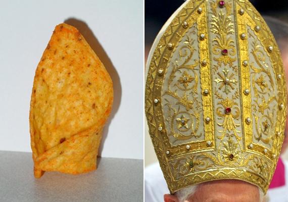 332 ezer forintnak megfelelő összegért kelt el egy burrito, amelynek az alakja emlékeztet a pápai süveg formájára.