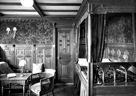 Másodosztályú kabin a Titanicon, a Courtesy National Museums Northern Ireland gyűjteményéből.