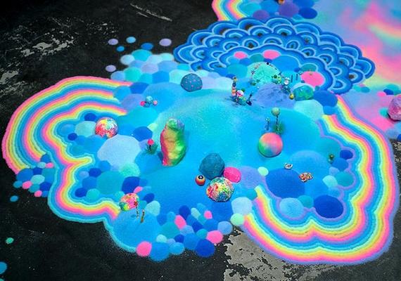 A színes, szivárványos részekre különösen jó ránézni.
