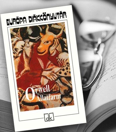 George Orwell: Állatfarm                         Orwell 1943/44-ben írott műve ténylegesen a sztálini korszak szatírája, a Lenin halálától a szovjet-német megnemtámadási egyezményig terjedő időszakban, de természetesen minden elnyomó, totalitárius rendszerre ráillik. Egy angol farm - Mr . Jones Majorja - a színhely, ahol az állatok a disznók vezetésével megdöntik az Ember uralmát, és a maguk igazgatta Állatfarmon élik először szabadnak, derűsnek látszó, majd egyre inkább elkomoruló életüket.