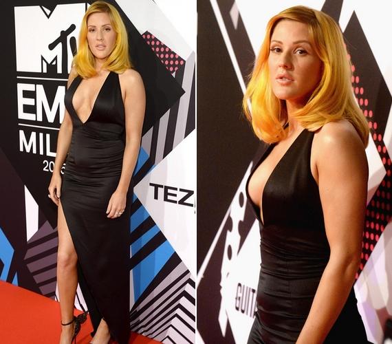 A múlt heti MTV EMA díjátadón Ellie mindenkit meglepett, amikor vöröses szőke hajjal jelent meg a gálán, nőies és merész ruhában.