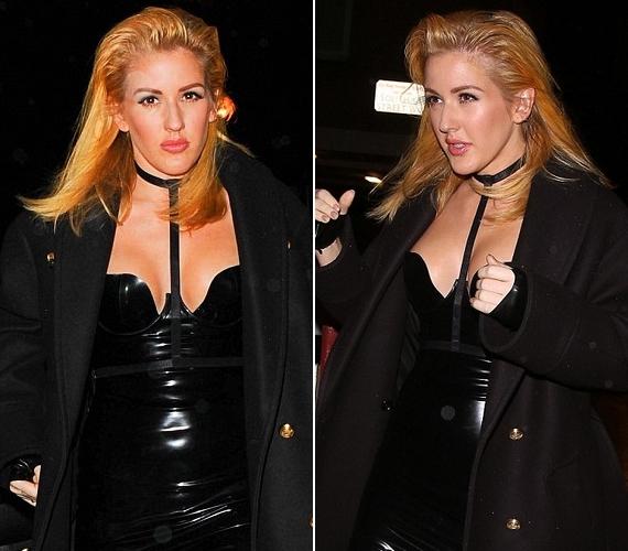 A 28 éves énekesnőt még nem láttuk ilyen frizurával, de a hátrafésült haj is Kardashianék specialitása.