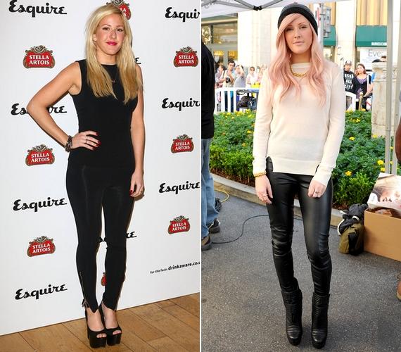 Az énekesnő egyik kedvenc ruhadarabja a leggings, de eddig általában fényes vagy bőrhatású darabokat választ a nyilvános eseményekre.
