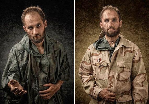 Akit az utcán koldusnak néznek, egy iraki veterán,Jacob Williams.