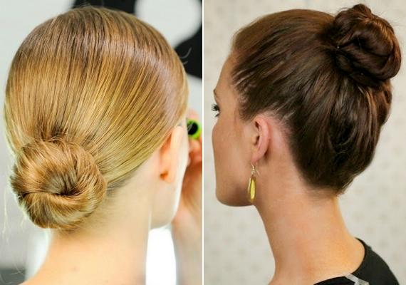 Ha végképp elégedetlen vagy a frizura formájával, kösd a hajad szoros balerinakontyba! Ezt háromféleképpen is elkészítheted, ide kattintva megtudhatod, hogyan.