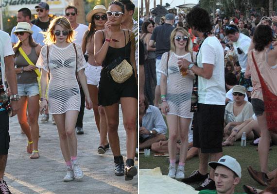 Emma Roberts fekete bikinije fölé egy hálószerű ruhát húzott - ennyi erővel már nem is kellett volna felvennie semmit.