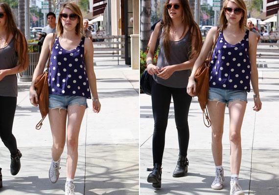 Emma a hétköznapokban is szívesen öltözik kényelmesen és lazán, mintha mindig egy fesztiválon lenne.