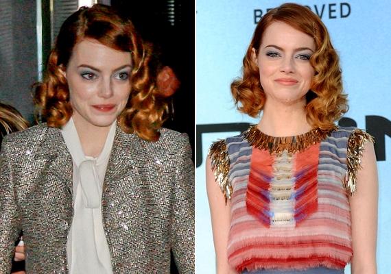 Emma Stone félretűzött, göndör hajjal érkezett A csodálatos Pókember második részének berlini bemutatójára.