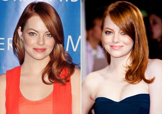 Mivel a vörös haj önmagában is különleges, a vállra omló tincsek éppen olyan jól mutatnak, mint a nagy műgonddal elkészített frizurák.
