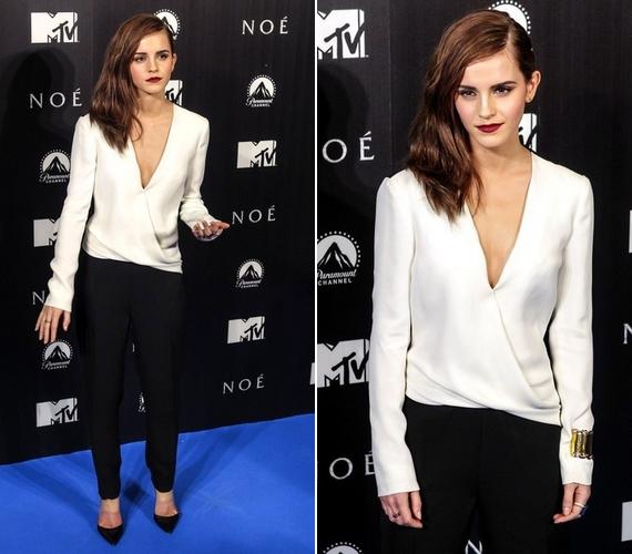 Emma Watson új filmje, a Noé premierjére érkezett ebben a fekete-fehér összeállításban.
