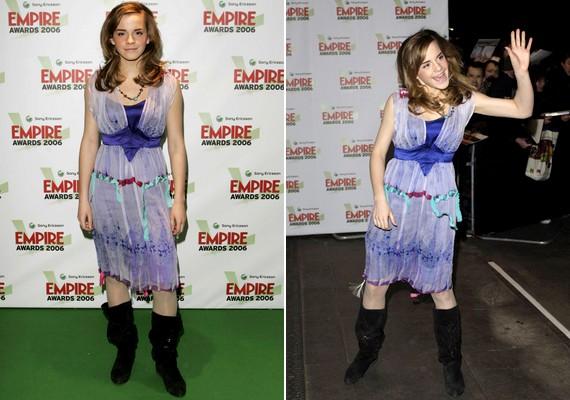 Nem most fordult elő először, hogy Emma előnytelenül kombinálta a stílusokat.