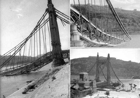 1945. január 18-án reggel a németek tisztázatlan okokból felrobbantották a hidat.