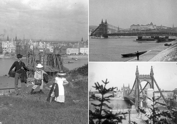 Az első Erzsébet hidat1898 és 1903 között építették az I. és az V. kerület összekötésére. Nevét Erzsébet királynéról kapta, aki időközben hunyt el a genfi merénylet következtében.