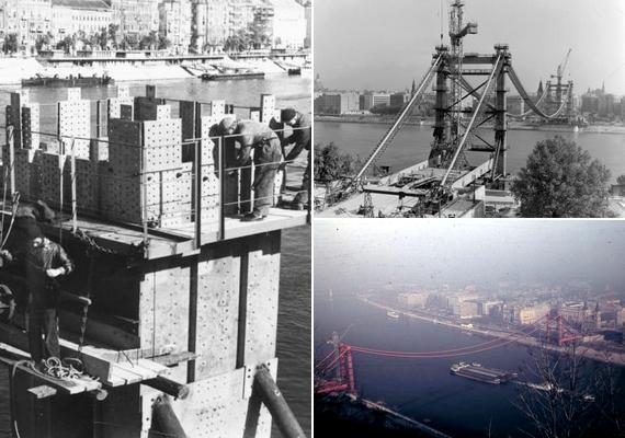 1961 és 1964 között egy teljesen új hidat építettek a régi helyére. A munkálatokról már színes fotó is készült.