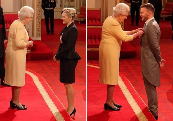 Kate Winsletet a Brit Birodalom Rendje parancsnoki fokozatával, Gary Barlow-t pedig a Brit Birodalom Rendjének tiszti fokozatával tüntette ki a napokban Erzsébet.