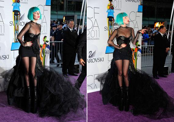 Lady Gaga a CFDA Awardson jelent meg ebben a Thierry Mugler által tervezett ruhában, ahol a stílusikon kategóriában jelölték. Ugye, nem kell magyaráznunk, miért?