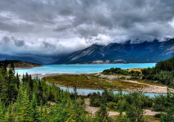 Így néz ki az Abraham-tó, amikor nincs befagyva.