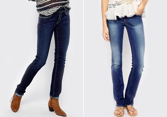 Ha széles a csípőd, válassz sötétebb színű, egyenes szárú nadrágot, díszítetlen farzsebbel.
