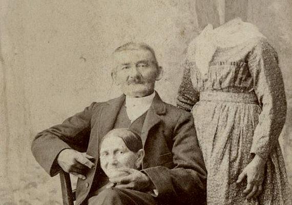 Ez volt az 1800-as évek heppje: a képen szereplő egyénnek eltűnt a feje a testéről, és egy egészen váratlan ponton bukkant fel.