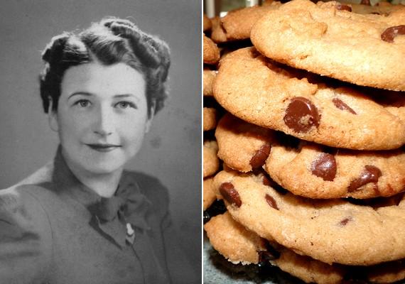 Nemcsak a nőknek, de az édesszájú férfiaknak is kedvezett Ruth Wakefield, aki egy véletlen folytán találta fel az amerikai csokis kekszet: egy alkalommal tortabevonó híján sima csokoládéval dolgozott, ami darabokban maradt a süteményben.