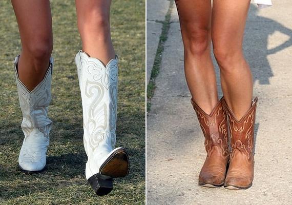 Cowboycsizmák. Már a puszta látványuktól izzad a lábunk, pedig még nincs is 35 fok, és nem is táncoltunk bennük.