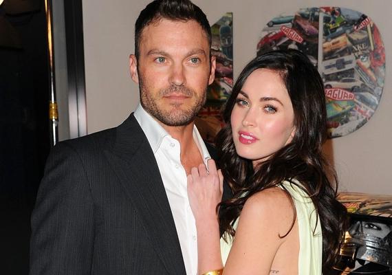 A szexis Megan Fox 24 évesen mondta ki az igent a nála 13 évvel idősebb Brian Austin Greennek. Amikor először találkoztak, Megan még csak 18 éves volt, de azonnal elcsavarta a Beverly Hills 90210 szépfiújának a fejét. Tavaly első gyermekük, Noah Shannon is megszületett.
