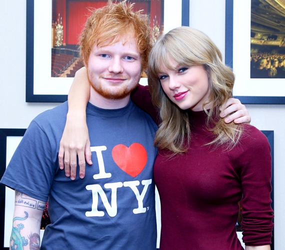 Taylor Swift és Ed Sheeran ugyancsak nagyon jó barátok. A munkában is megtalálják a közös hangot - az Everything Has Changed című számon dolgoztak együtt -, és a szabadidejüket is szívesen töltik egymás társaságában.